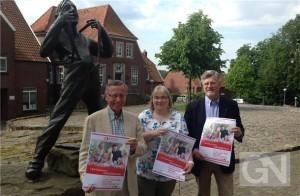 Zum ersten Bürgerbrunch auf dem Herrenberg lädt die Bad Bentheimer Bürgerstiftung, hier vertreten durch (von links) Bernd Ortloff, Monika Kappelhoff und Peter Pille, am 22. Juni zum ersten Mal ein