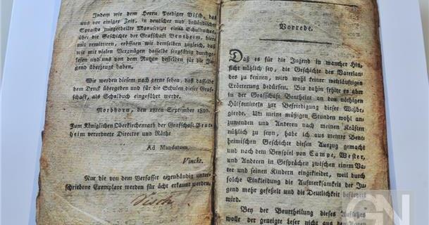 Bürgerstiftung möchte Grafschafter Schulbuch von 1821 wieder auflegen