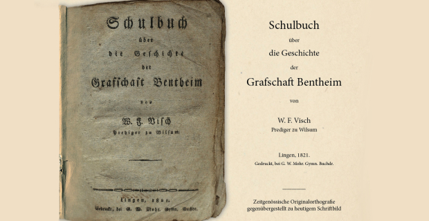 Jetzt erhältlich: Schulbuch der Grafschaft Bentheim von 1821