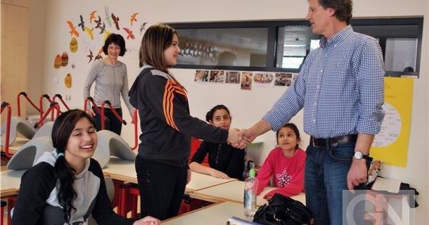 Flüchtlinge lernen in Bentheim von Ehrenamtlern