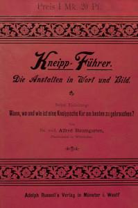 Regionale Geschichte - Alfred Baumgarten (1894): Kneipp-Führer
