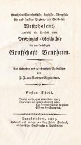 Regionale Geschichte - F. F. von Raet von Bögelscamp (1805): Beyträge zur Geschichte Westphalens