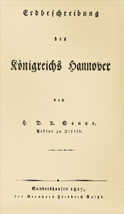 Regionale Geschichte - H. D. A. Sonne (1817): Erdbeschreibung des Königreichs Hannover