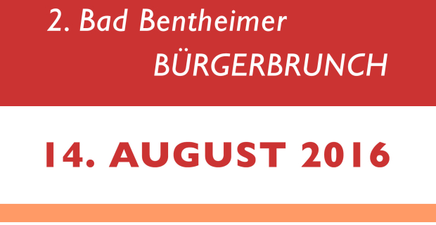2. Bürgerbrunch am 14.08.2016!